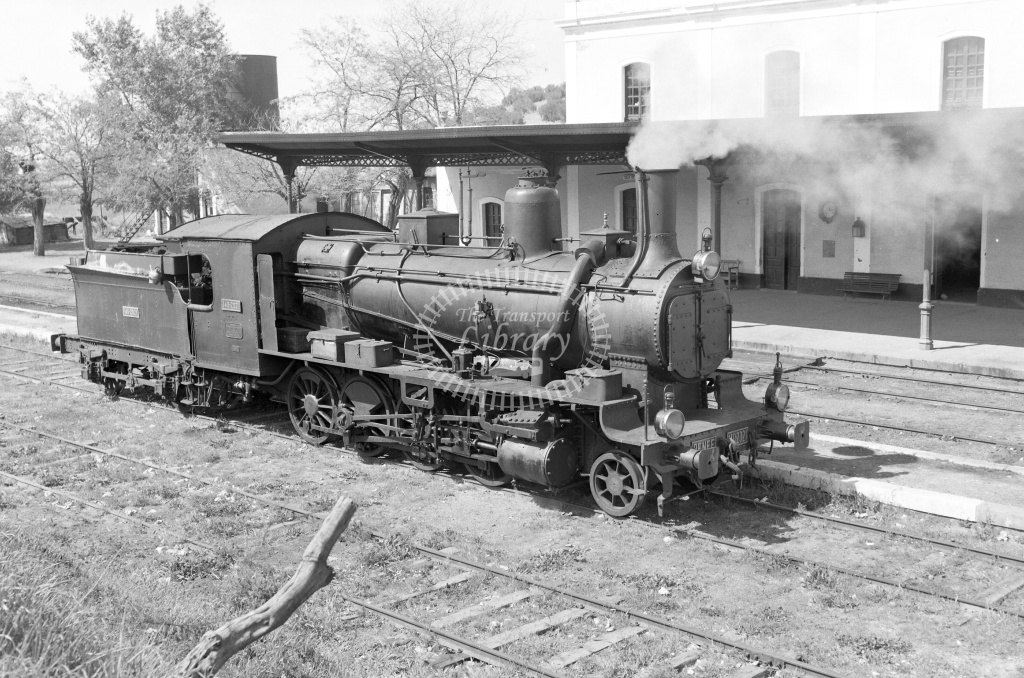 RENFE Spanish Railways Steam Locomotive Class 140 140 2021  at Luque in 1966 - 27/03/1966 - Lawrie Marshall