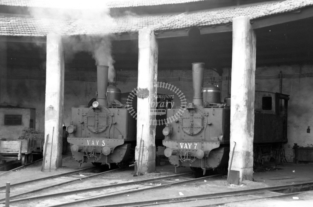 Ferrocarriles de Villena a Alcoy y Yecla Steam Locomotive 7 5  at Villena in 1969 - 27/05/1969 - Lawrie Marshall