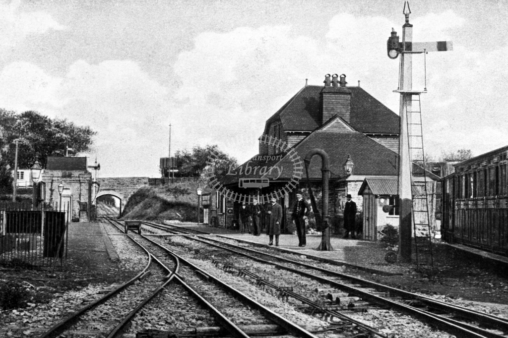 View of Blackmoor Station from the north, postcard view, circa 1910 - Lens of Sutton Association Lynton and Barnstaple