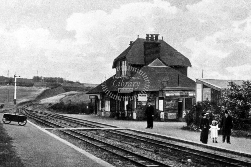 View of Woody Bay station, looking north, 15-9-1905 - Lens of Sutton Association Lynton and Barnstaple