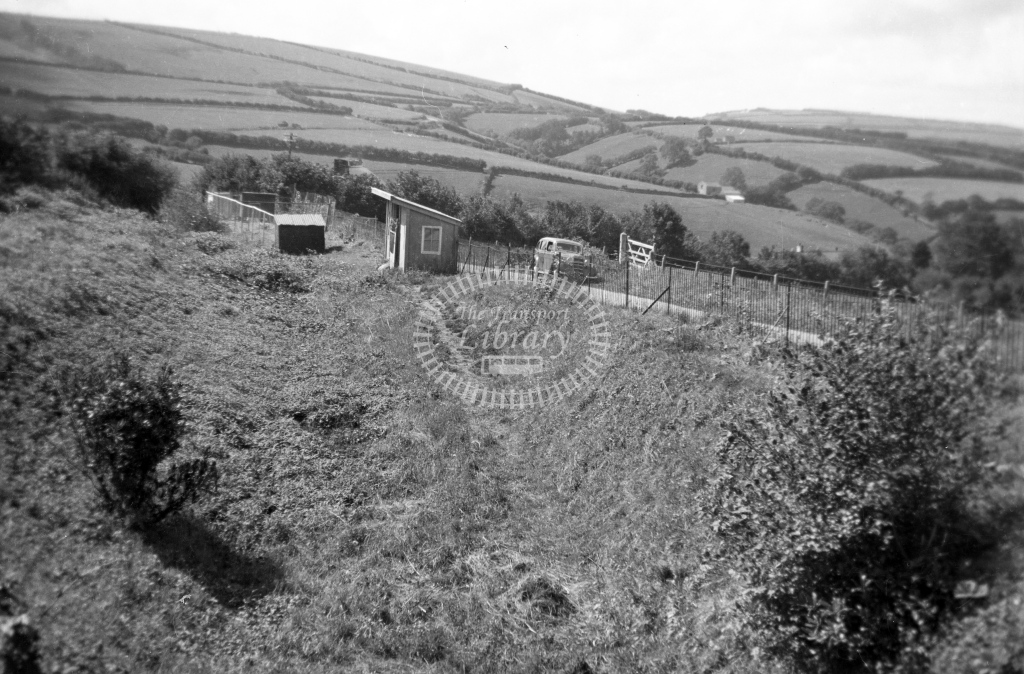 Site of Parracombe station after closure, circa 1939  - Lens of Sutton Association Lynton and Barnstaple