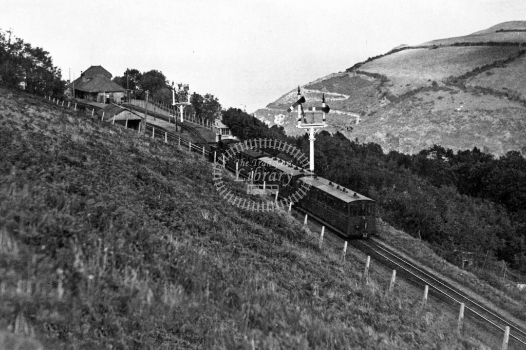 Panoramic view of Lynon station looking to the sea, circa 1935 - Lens of Sutton Association Lynton and Barnstaple
