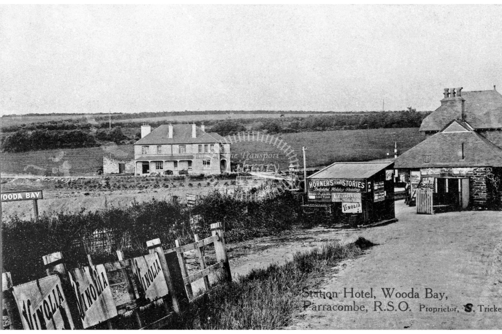 Postcard view of Woody Bay, circa 1900, with station named 'Wooda Bay' - Lens of Sutton Association Lynton and Barnstaple