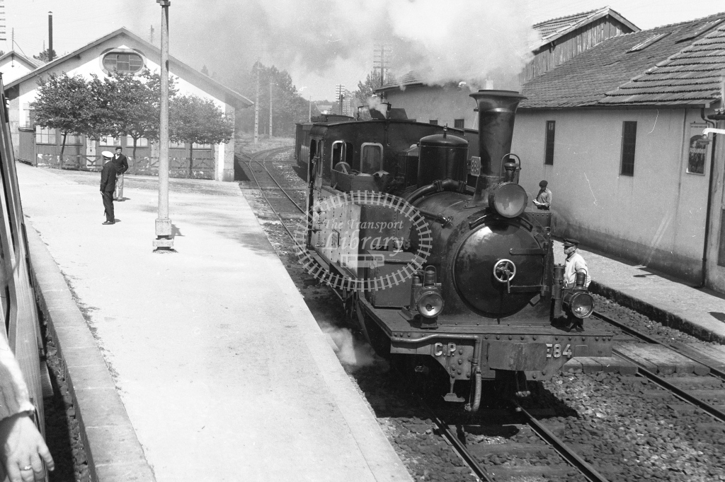 CP E84 2-6-0T at Lousado Station 1969 (Frank Saunders) - Lens of Sutton Association Portugal Collection
