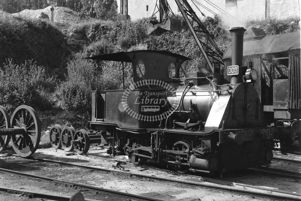 CP 003 0-4-0WT at Contumil MPD, Porto 1969 (Frank Saunders) - Lens of Sutton Association Portugal Collection