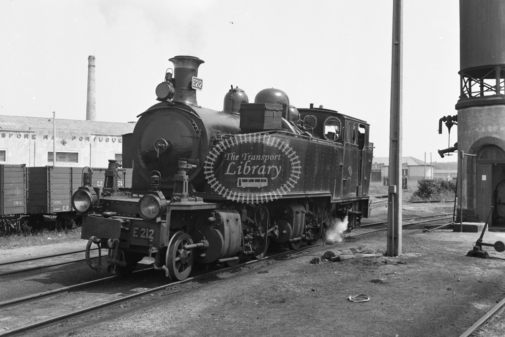 CP E212 2-4-6-0T Mallet at Espinho Vouga MPD 1969 (Frank Saunders) - Lens of Sutton Association Portugal Collection