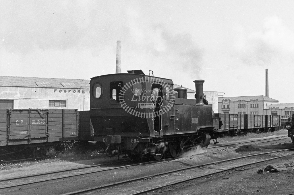 CP E84 2-6-0T  at Espinho Vouga MPD 1969 (Frank Saunders) - Lens of Sutton Association Portugal Collection