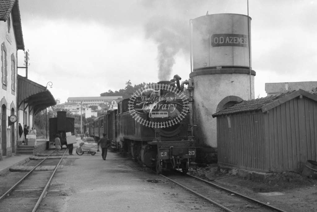 CP E213 2-4-6-0T Mallet at Oliveira de Azemeis Station 1969 (Frank Saunders) - Lens of Sutton Association Portugal Collection