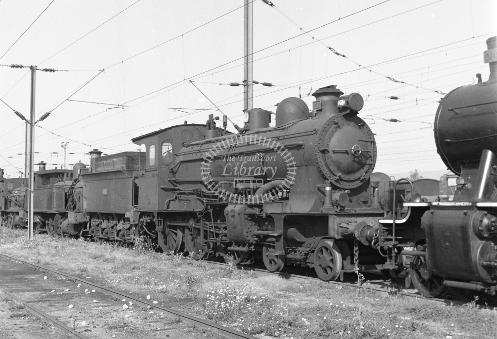 CP 211 4-6-0 at Contumil, Porto 1969 (Frank Saunders) - Lens of Sutton Association Portugal Collection