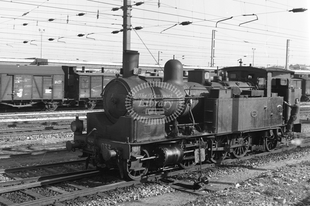 CP 033 2-6-2T at Contumil Yard, Porto 1969 (Frank Saunders) - Lens of Sutton Association Portugal Collection