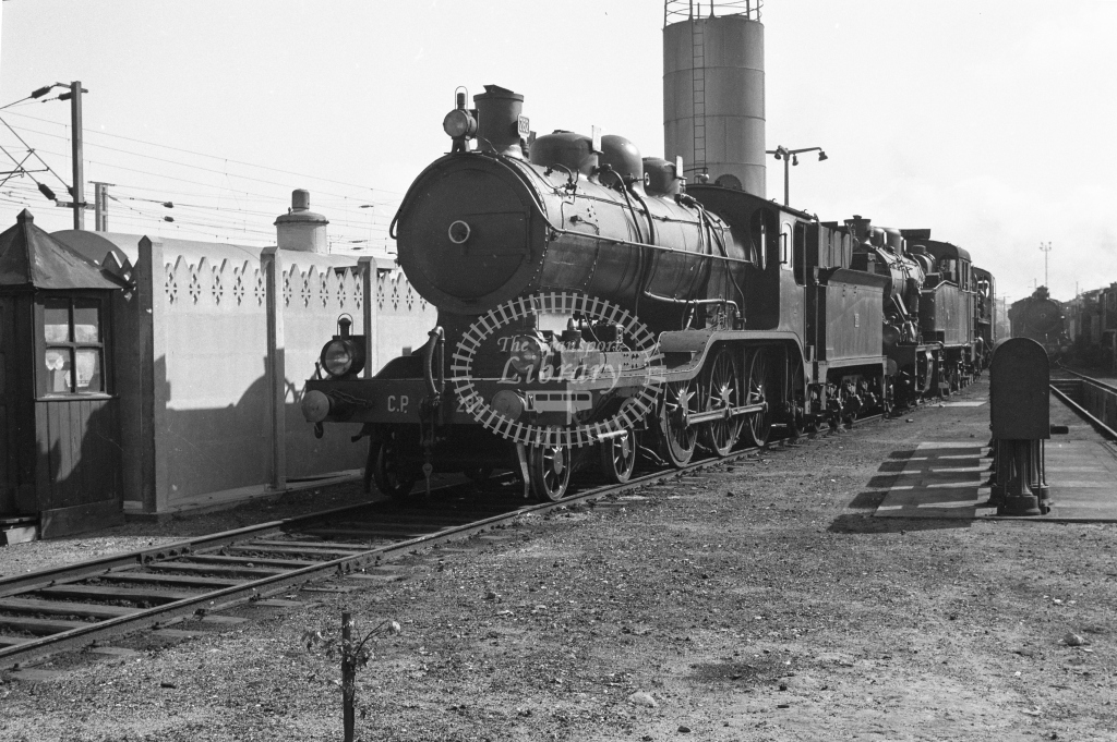 CP 0282 4-6-0 in the yard at Contumil MPD, Porto 1969 (Frank Saunders) - Lens of Sutton Association Portugal Collection