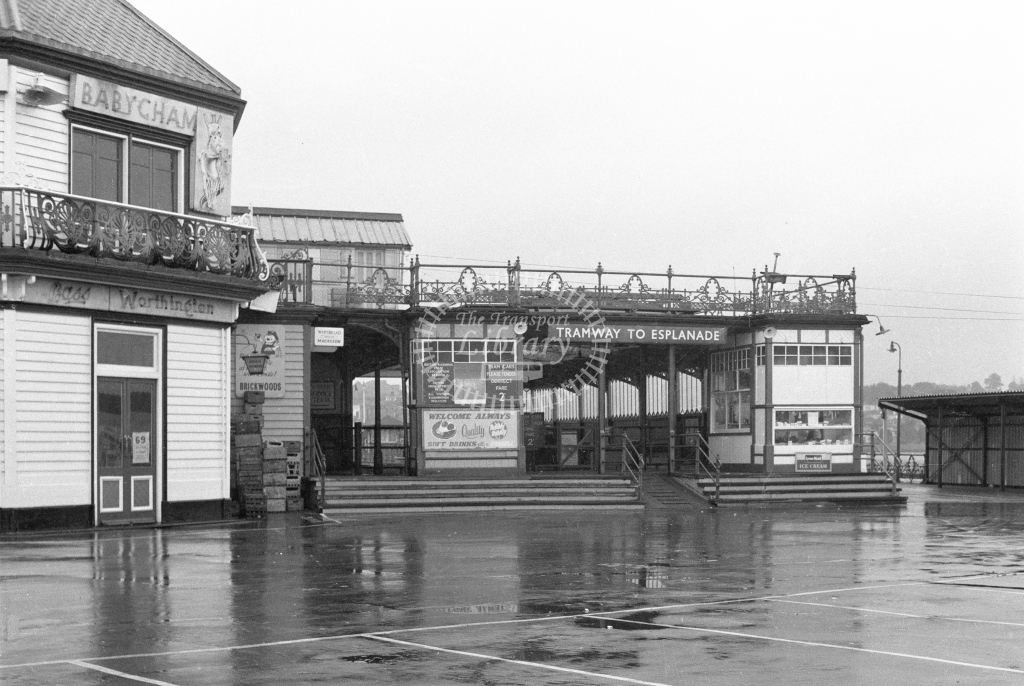 Ryde Pier Tramway Ryde Pierhead station. Exterior view; circa 1965/6 -Lens of Sutton Association Isle of Wight (IOW) part 2