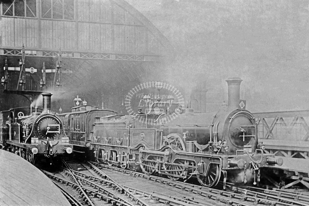 SER Charing Cross with Cudworth 118 class 2-4-0 No. SER 230 and Q class c. 1895 - Lens of Sutton Association SECR Stations part 1