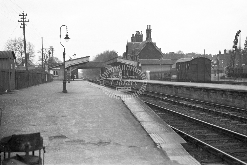 SER Crowthorne towards Reading 1930s. H A Vallance - Lens of Sutton Association SECR Stations part 1