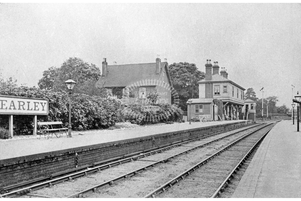 SER Earley towards Reading postcard view c. 1905 - Lens of Sutton Association SECR Stations part 1