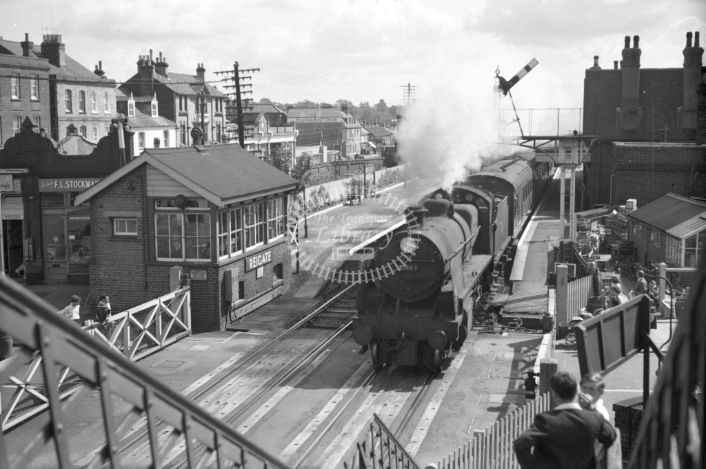 SER Reigate towards Redhill with N class No. 31863 c. 1955 - Lens of Sutton Association SECR Stations part 1