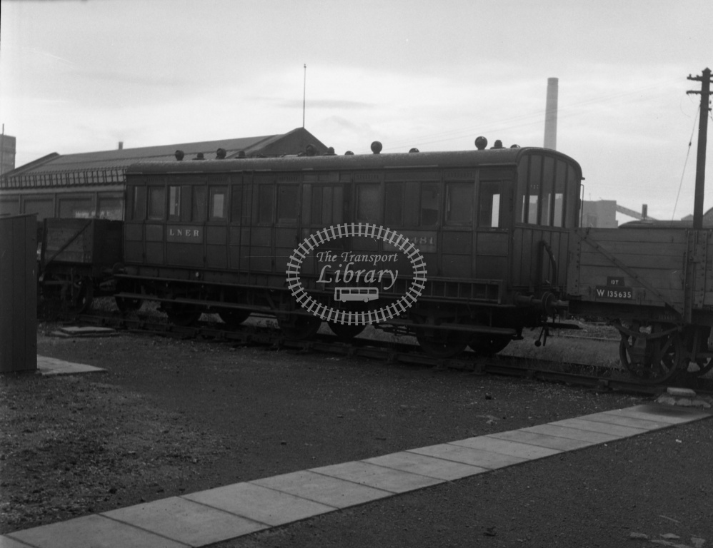 British Railways Departmental Stock at Willesden MPD, LMR in 1954  - 940481  GNR 6w inspection saloon,centre LO. - Lens of Sutton Dennis Cullum Collection