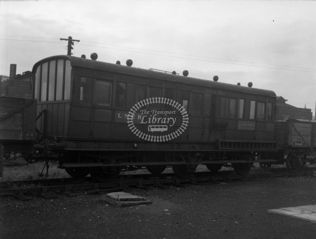 British Railways Departmental Stock at Willesden MPD,LMR in 1954  - 940481 GNR 6w inspection saloon, centre LO, another view but the same side - Lens of Sutton Dennis Cullum Collection
