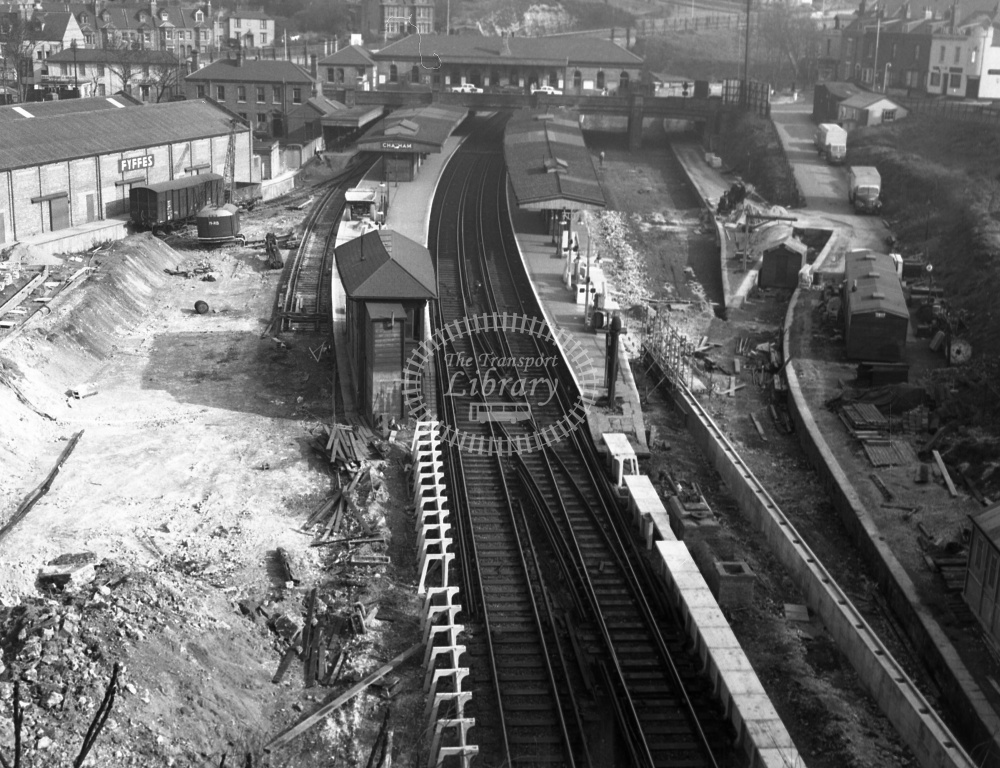 British Railways Station View at Chatham in 1959  - (as for no 3361 but another view) - Denis Cullum