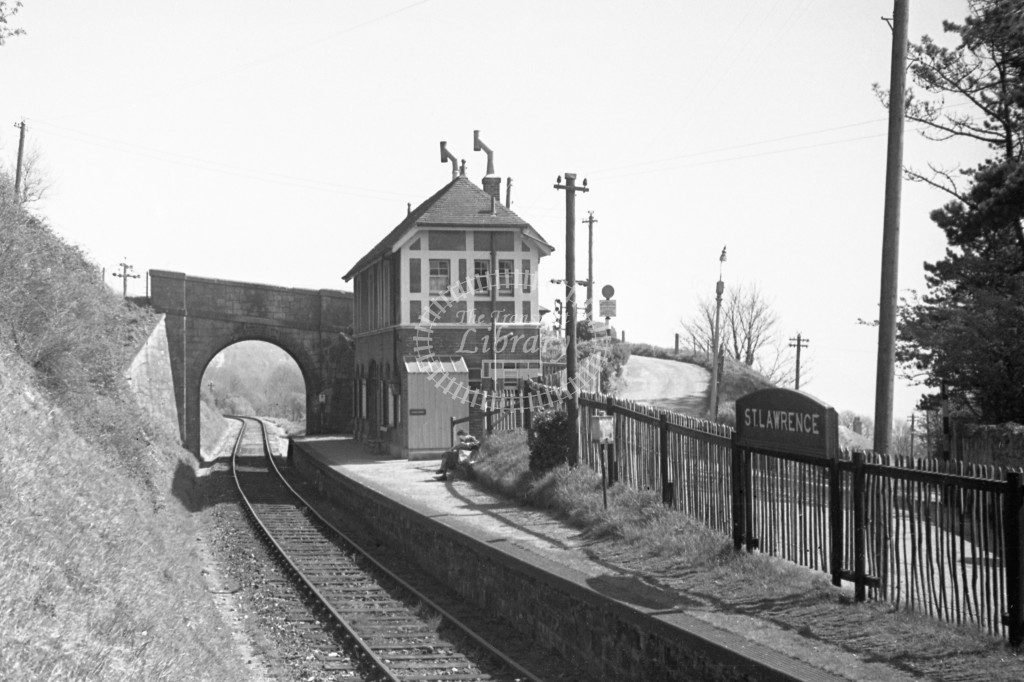 BR St Lawrence Station; general view of station looking towards Ventnor; 16/4/49-Lens of Sutton Association Isle of Wight (IOW) PM Alexander collection