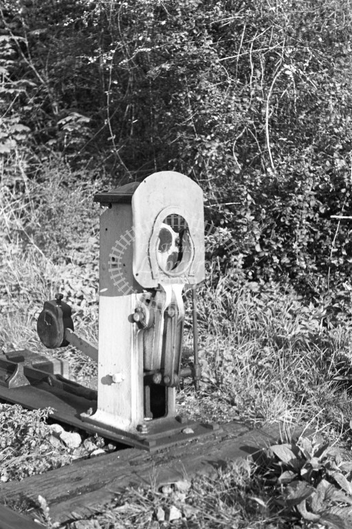 BR Ventnor West station; detailed view of ground signal; 18/4/49-Lens of Sutton Association Isle of Wight (IOW) PM Alexander collection