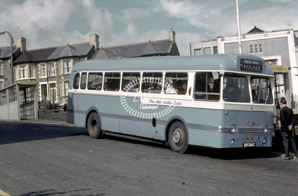 West Mon Leyland PSUC1/1 2 125BAX at Bargoed in 1970 - Sep 1970 - Roy Marshall