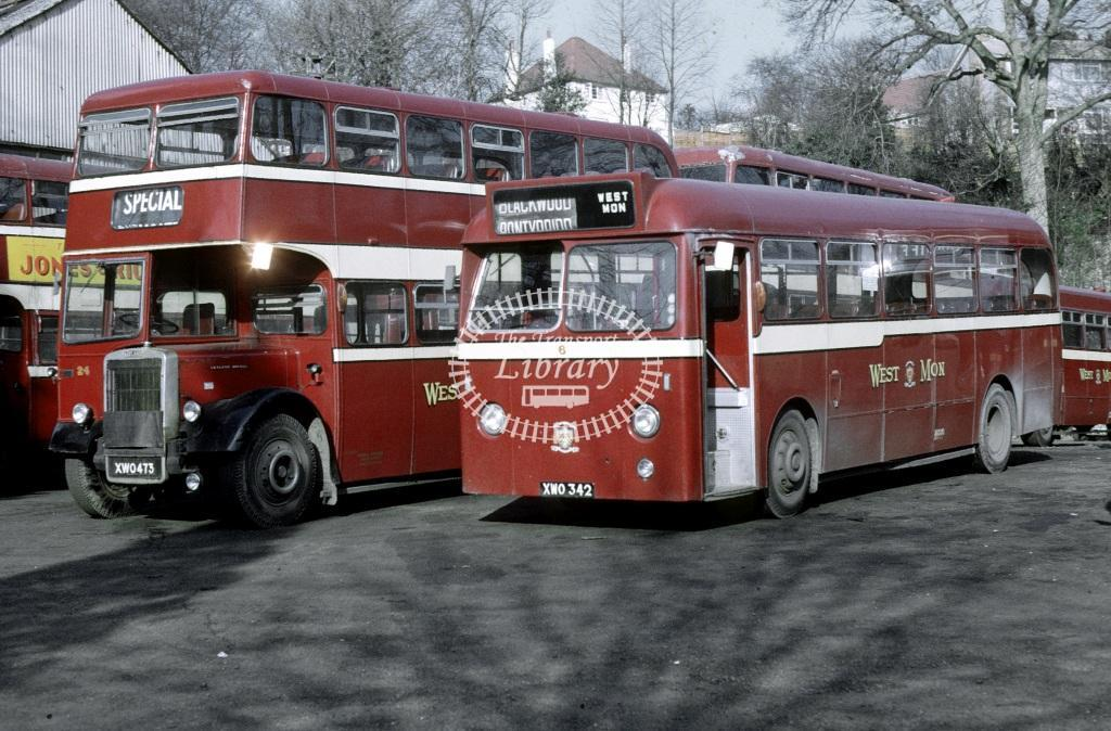West Mon Leyland PSUC1/1 6 XWO342 at Blackwood in 1968 - Feb 1968 - Roy Marshall