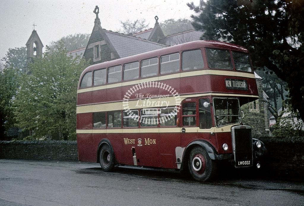 West Mon Leyland PD2/12 8 LWO322 at Blackwood in 1964 - May 1964 - Roy Marshall