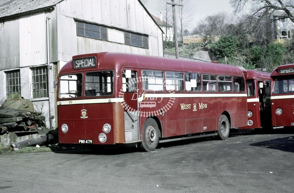 West Mon AEC Reliance 10 PWO479 at Blackwood in 1968 - 24929 - Roy Marshall