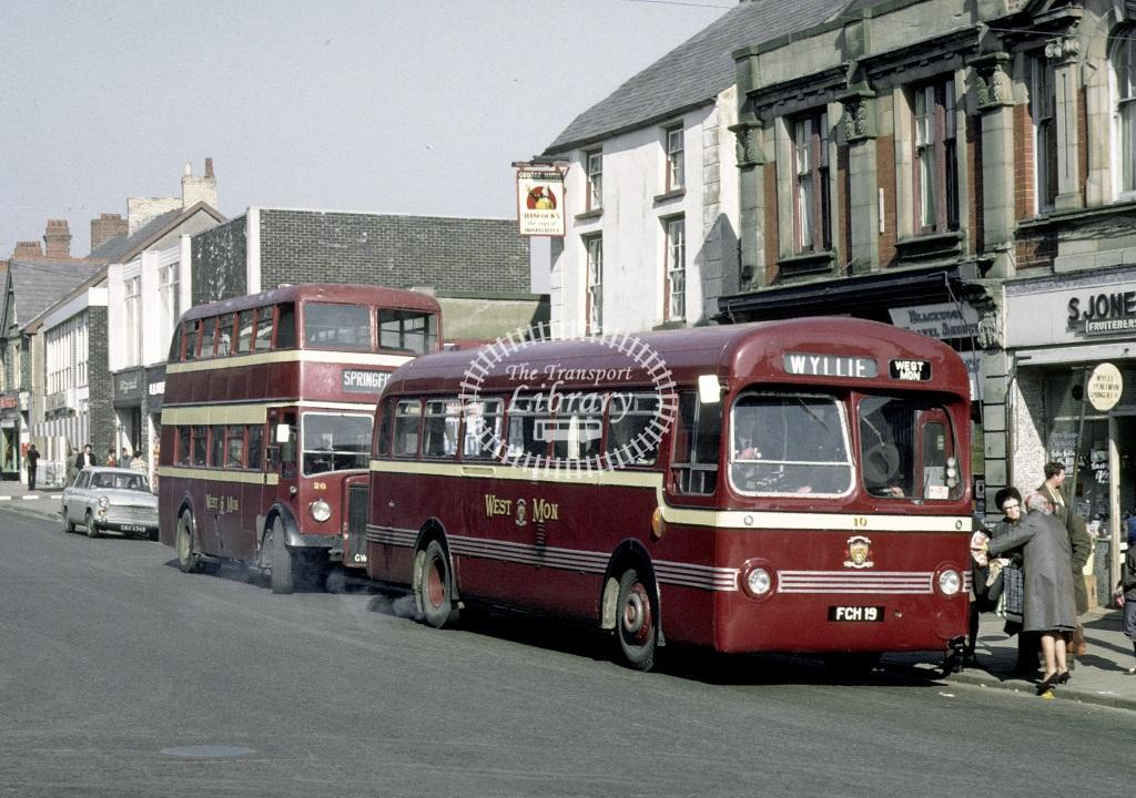 West Mon Leyland PSUC1/1 10 FCH19 at Blackwood in 1969 - Mar 1969 - Roy Marshall