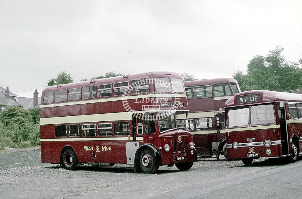 West Mon Leyland PD2/21 11 UNW111 at Blackwood in 1968 - Jul-68 - Roy Marshall