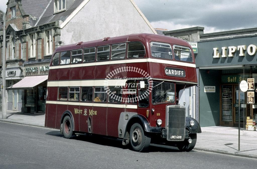 West Mon Leyland PD2/38 13 UWO688 at Blackwood in 1968 - Aug-68 - Roy Marshall