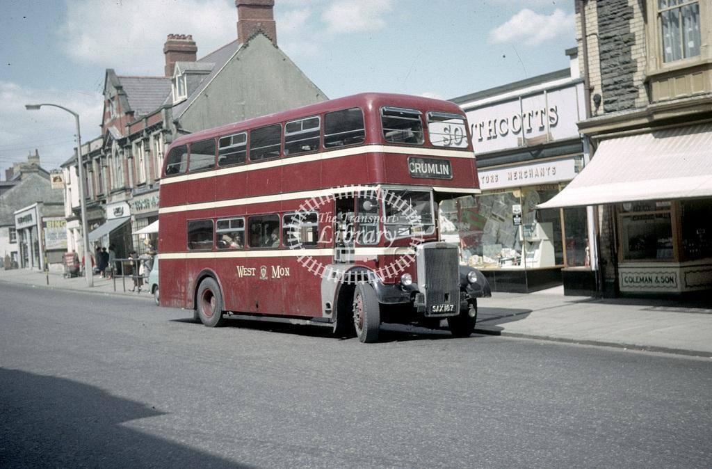 West Mon Leyland PD2/40 22 SAX187 at Bargoed in 1964 - May 1964 - Roy Marshall