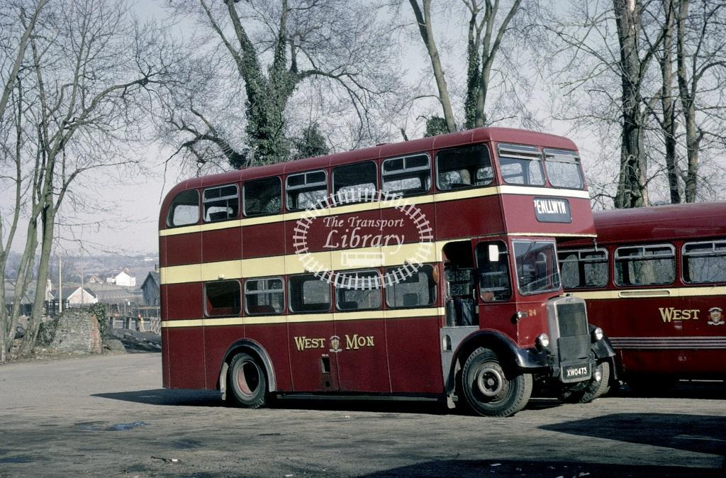 West Mon Leyland PD2/40 24 XWO473 at Blackwood in 1969 - Mar 1969 - Roy Marshall