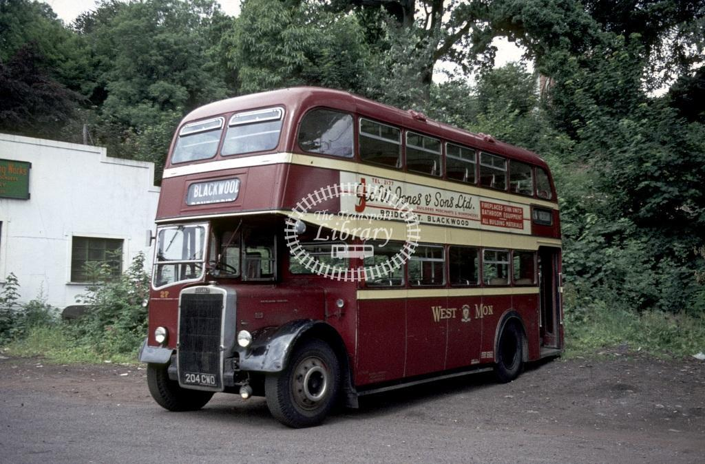 West Mon Leyland PD2/40 27 204CWD at Blackwood in 1968 - Roy Marshall