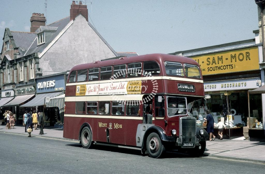 West Mon Leyland PD2/40 21 260BAX at Blackwood in 1969 - Jun 1969 - Roy Marshall