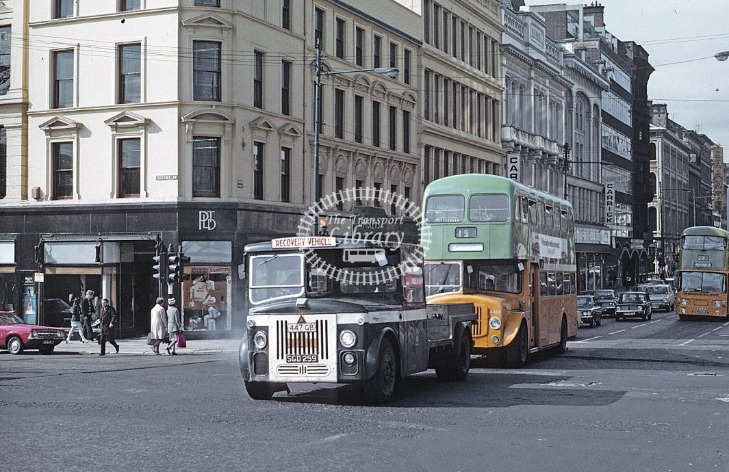 Glasgow Leyland PD2/24 L 257 SGD259 at Broomlielaw in 1973 - Jun-73 - Roy Marshall
