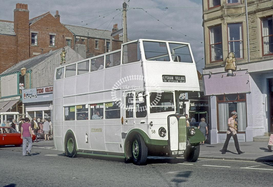 Lancaster AEC Regent III 58 KTF587 at Morecambe in 1974 - Jul-74 - Roy Marshall