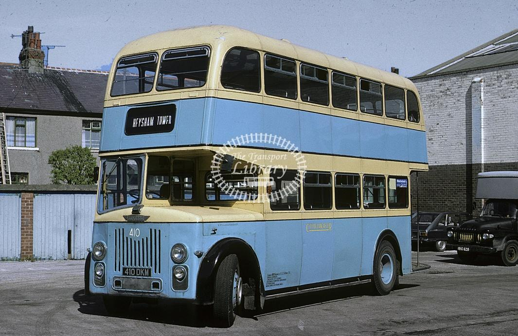 Lancaster Leyland PD2/30 410 410DKM at Morecambe in 1976 - May 76 - Roy Marshall