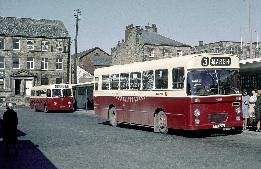 Lancaster Leyland PSU3B 120 STD120L at Lancaster area in 1973 - Mar 1973 - Roy Marshall