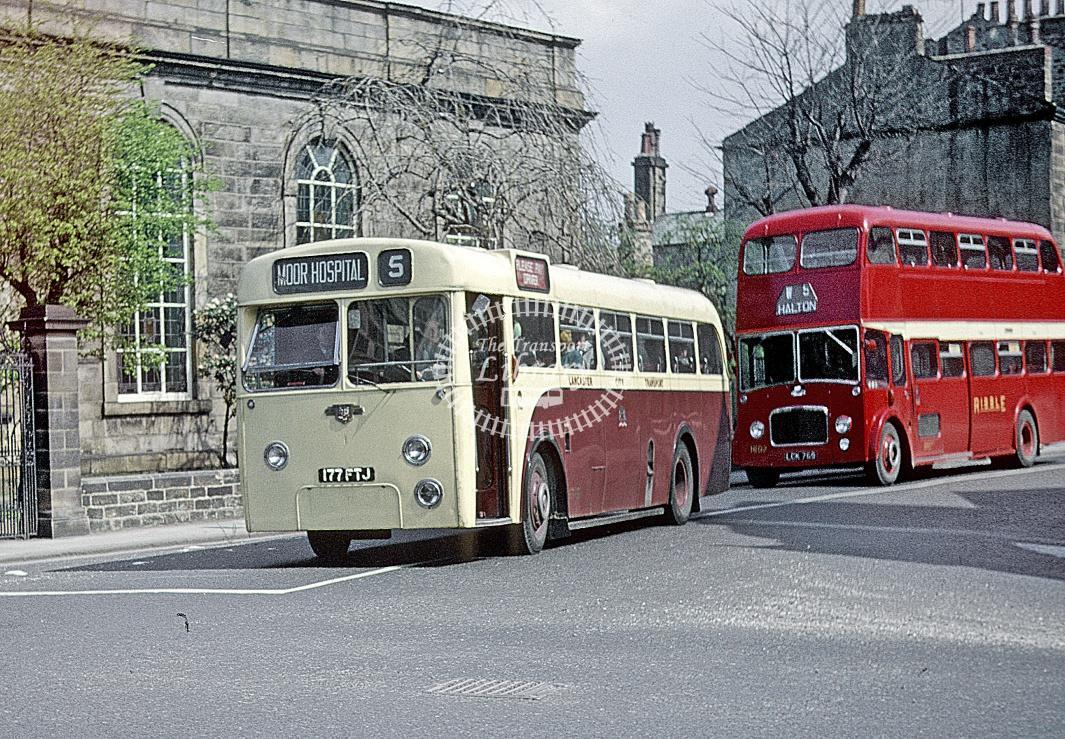 Lancaster Leyland PSUC1/13 176 177FTJ at Depot/Garage in 1963 - May 1963 - Roy Marshall