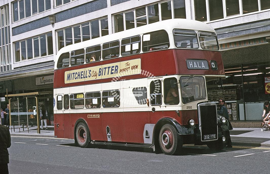 Lancaster Leyland PD2/37 202 202YTE at Lancaster area in 1974 - Jul-74 - Roy Marshall