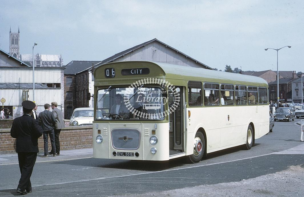 Lincoln Leyland PSUR1A 43 EVL551E at Lincoln Area in 1967 - Jul-67 - Roy Marshall