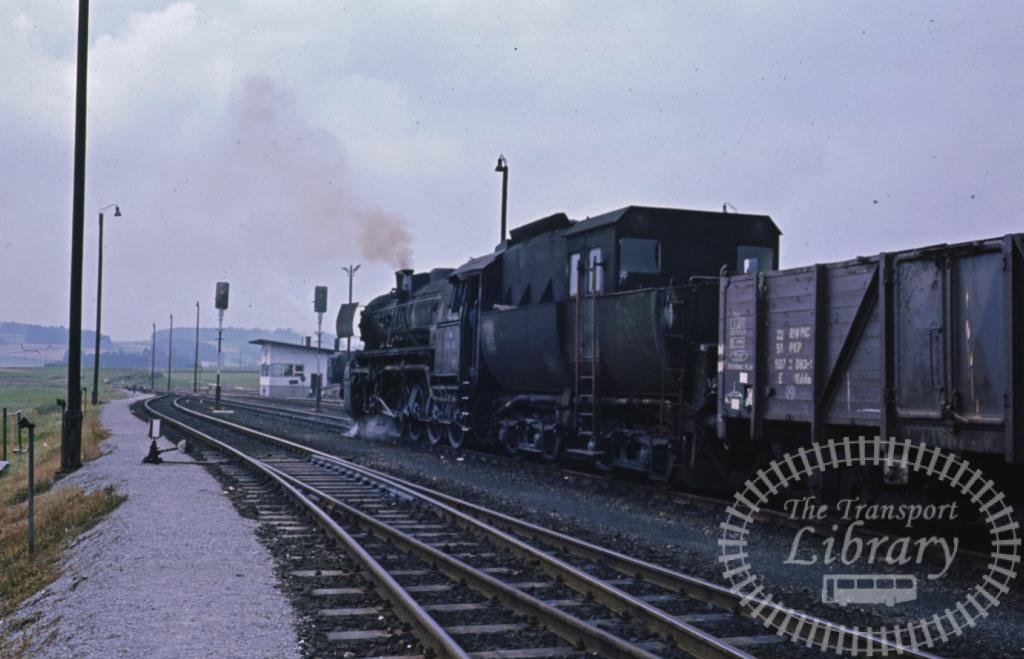 OBB Austrian Railways Steam Locomotive Class 52 52 3288  at Summerau in 1974 - Mike Bentley