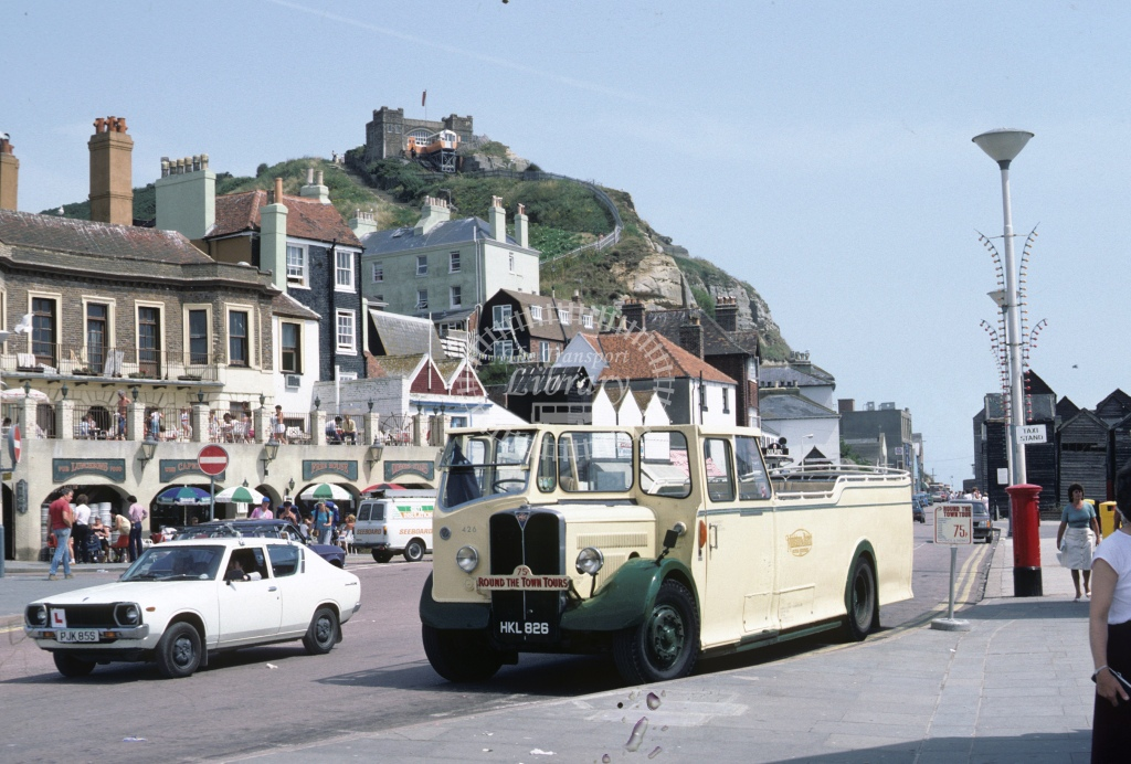 Hastings AEC Regal 426 HKL826  at Hastings  in 1984 - Aug - Roy Marshall