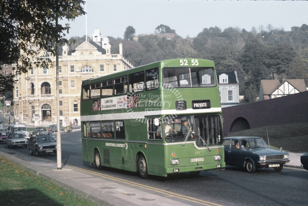 Maidstone and District Metro Scania 5285 KKO255P at Chatham in 1977 - Oct 1977 - Roy Marshall