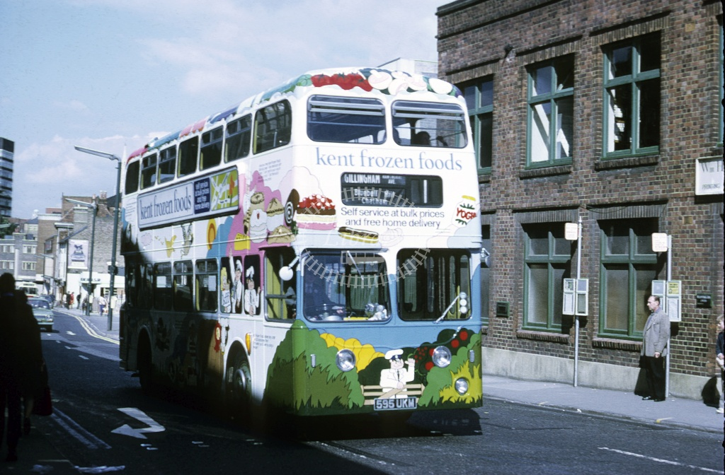 Maidstone and District Leyland PDR 5595 595UKM at T Wells in 1976 - Sep-76 - Roy Marshall