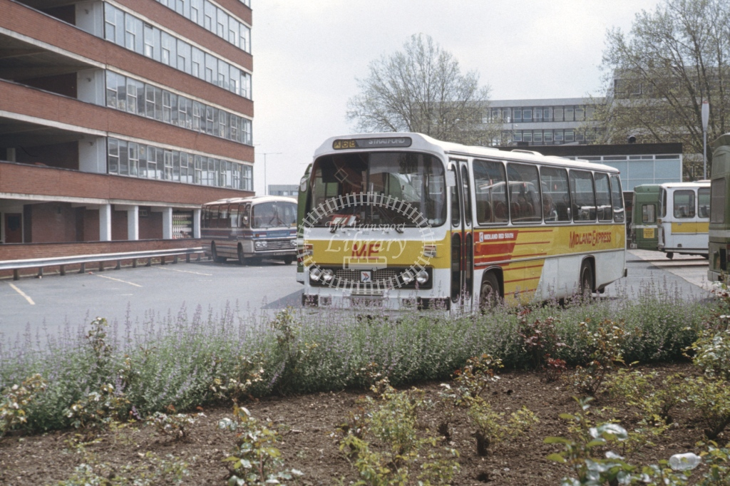 Midland Red South Leyland National 802 BVP802V  at Gloucester  in 1983 -  May  - Roy Marshall