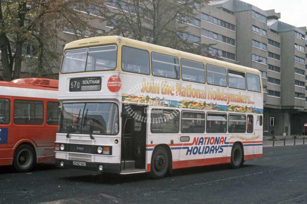 Midland Red South Leyland ON 902 A542HAC  at Coventry  in 1984 -  Oct  - Roy Marshall