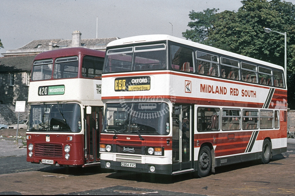 Midland Red South Leyland ON 964 C964XVC  at Oxford  in 1986 -  Sep  - Roy Marshall
